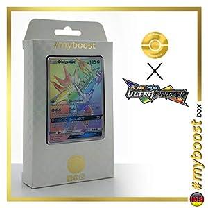 Dialga-GX 164/156 Arcoíris Secreta - #myboost X Sonne & Mond 5 Ultra-Prisma - Box de 10 Cartas Pokémon Aleman