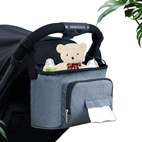 LinGear Bolsa Organizadora de Cochecito Ligero para Bebé y Madre Nueva, Bolsa de Hombro, Oxford Nylon...