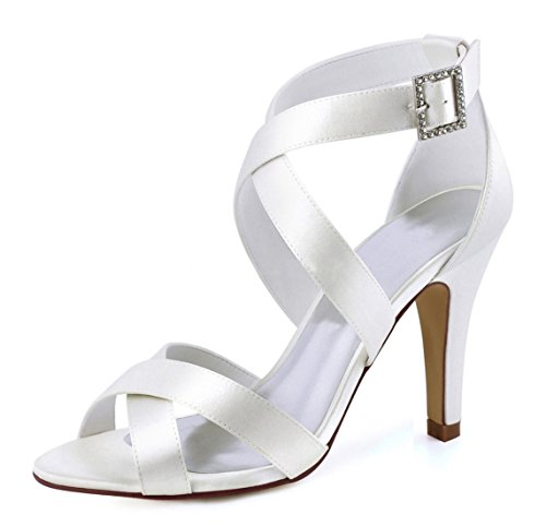 Minitoo MinitooUK-MZ8226, Sandales Pour Femme Ivory-10cm Heel