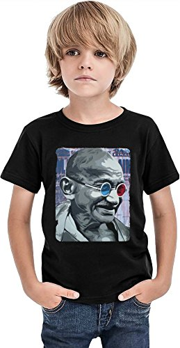 Mahatma Gandhi 3D Glasses Boys T-shirt 2/3 yrs
