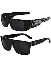 2er Pack Locs 9058 Sonnenbrillen Motorradbrille Sportbrille Radbrille in den Farben schwarz und weiß