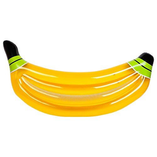 Dmgf piscina gonfiabile galleggiante banana gigante drifter stuoia con valvole rapide all'aperto estate portatile acqua sport lounge giocattolo sdraio galleggianti spiaggia per adulti bambini giallo