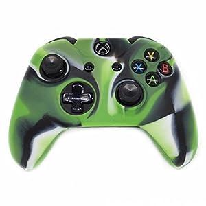 LeSB Zubehör Hochwertige Weiche Silikon Kasten Tasche Abdeckung Hüllen für Xbox One Drahtloser Controller (Grün)