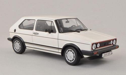 VW Golf I GTI, blanco, 1982, Modelo de Auto, modello completo, Welly 1:18