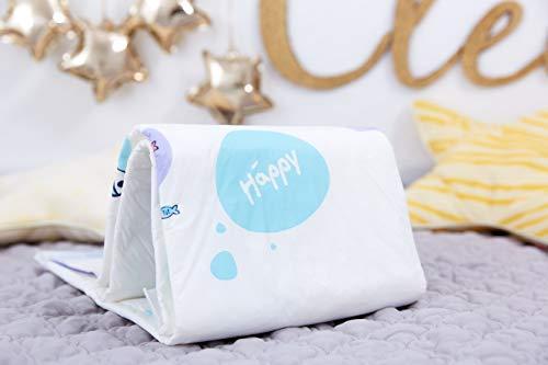 Bella Baby Happy Wickelunterlagen 60 x 60 cm, 4er Pack (4 x 10 Stück) - 2