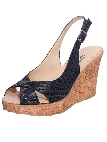 Marion Spath , chaussures compensées femme Bleu