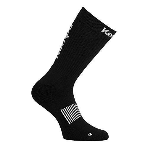 Kempa Socken Logo Classic Herren, schwarz/Weiß, 46-50