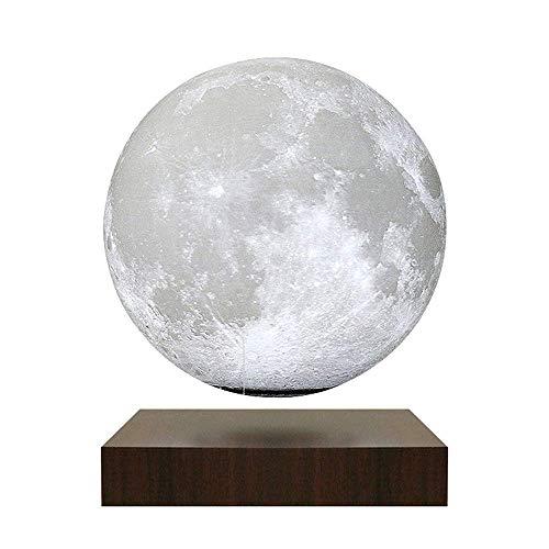 Magnético Levitando Lámpara de luna, Lámpara flotante 3D, Rotación automática de 360 grados libremente, Luz de noche LED, Fuente de alimentación inalámbrica