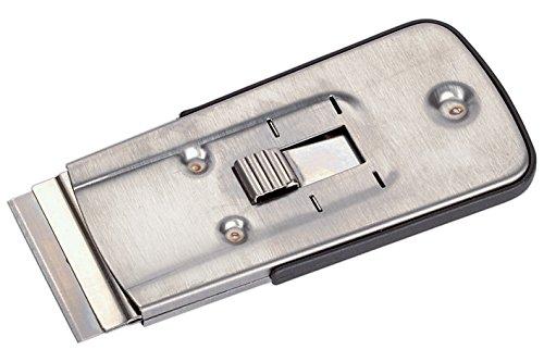 Wolfcraft 1 Schaber mit Metallgehäuse, Klinge zum Entfernen von Farb und Lackresten 18 mm, Resten auf Glaskeramik-Kochfeldern, 4183000