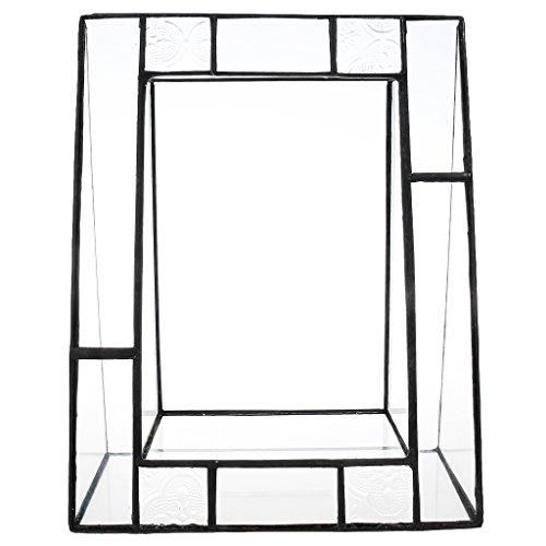 F Fityle Terrarium Pflanzen geometrische dekorative Pflanzenbehälter Pflanzkübel Blumenkübel Glasterrarium Cube für Sukkulenten 155 x 155 x 190mm - durchsichtig, 190*155*78MM (Ecke Outdoor-pflanzer)