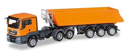 Preisvergleich Produktbild Herpa 306478 - MAN TGS L Euro 6 Kipp-Sattelzug