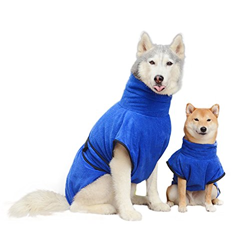 Und Für Kostüme Einfache Hunde Schnelle (Lalawow Bademäntel Für Hund, Robe Für Hunde Katzen Microfiber Trocken Schnell Einfach Tragen (S (Please refer to the size table),)