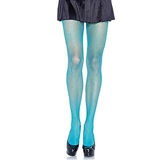 Leg Avenue Damen Lycra Netzstrumpfhose Neon Blau Transparent Einheitsgröße 36 bis 40