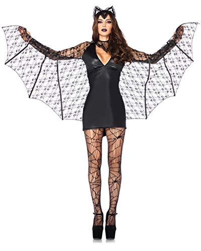 Sexy Erwachsene Fledermaus Kostüm Für - Leg Avenue 85241 - Kostüm für Erwachsene, Größe M, schwarz