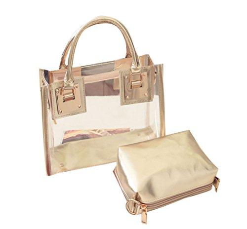 VJGOAL Mode FüR Frauen Transparente UmhäNgetasche Mit SüßIgkeiten Strand Handtasche Messeng Tasche (Glod) -
