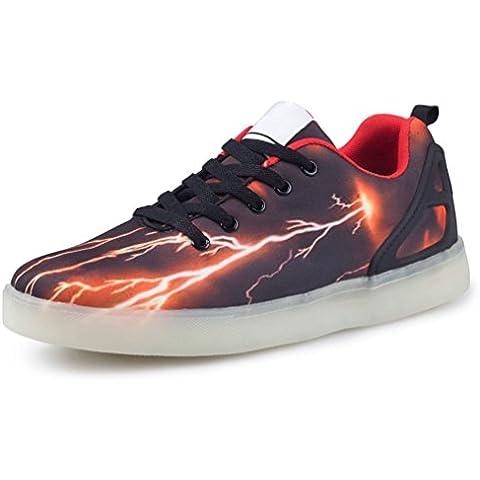 [Presente:pequeña toalla]JUNGLEST Hombre Zapatillas Zapatos Estampado LED
