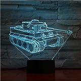 dory nachtlicht 7 farbe tank 3D lampe weihnachtsgeschenk nachtlicht neuheit Luminaria LED 3d tischlampe lampe kindertischlampe