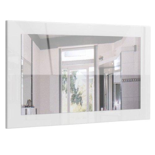 Spiegel Wandspiegel Lima 89cm in Weiß Hochglanz