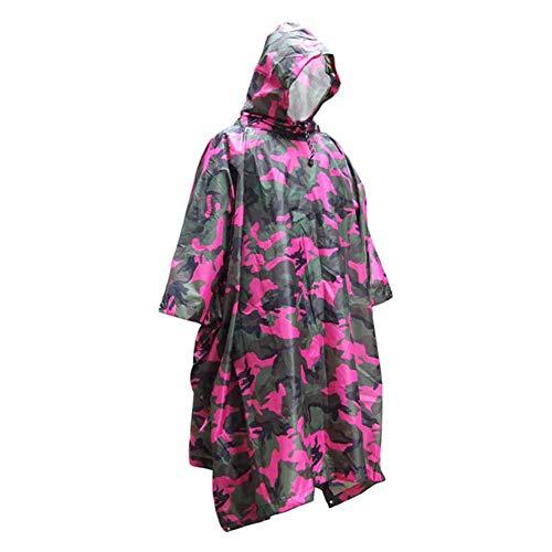 Rain Ponchos Poncho Pioggia Mimetica, 3 in 1 Tenda Impermeabile Tenda da Sole Tenda da Sole Telo Multifunzionale con Rivestimento Mimetico per Zaino da Viaggio Outdoor Tool, 220 * 146cm,C