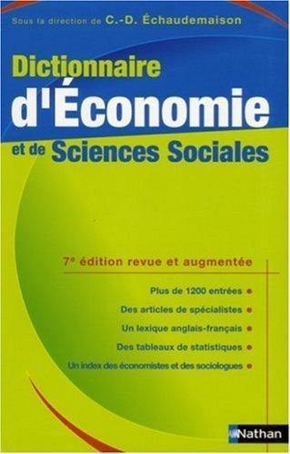 Dictionnaire d'Economie et de Sciences Sociales de Bosc, Serge (2006) Broché