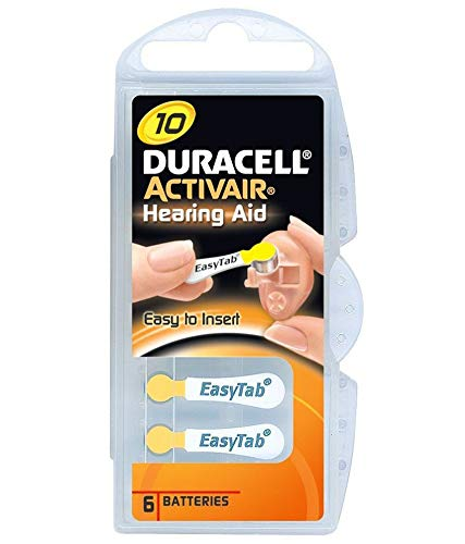 Duracell Typ 10Stück 60Batterien, P13Activair gelb