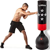 Lions Free Standing Punch Bag 5.5ft Boxing Stand Martial Arts Fitness Kick Punching Training Dummy