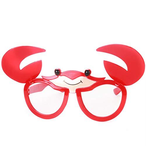MAGAI Flip-up-Krabben-Design Faltbare Klaue Fanci-Frame Erwachsene Kinder Party Sonnenbrille Perfekte Party Favor Gläser Party Zubehör (Farbe : Red)