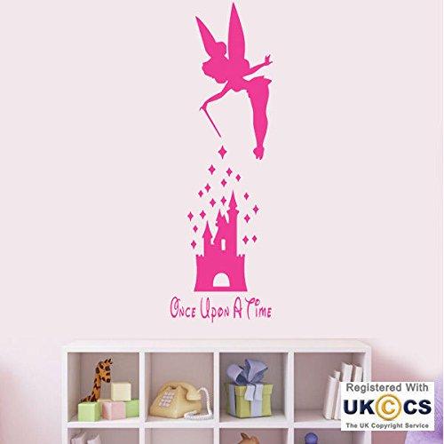 Es war einmal Unbefriedigten Schlafzimmer Fairy Castle-Wand-Kunst-Aufkleber-Abziehbilder Vinyl Startseite Ro Schlafzimmer Jungen Kinder Erwachsene Heim Zitate Küche Badezimmer Wandaufkleber