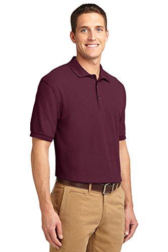 NEW Port Behörde Silk-Touch Sport T-Shirt Harvest Gold, M Weinrot