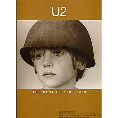 U2: The Best Of 1980-1990. Partitions pour Tablature Guitare(Symboles d'Accords)