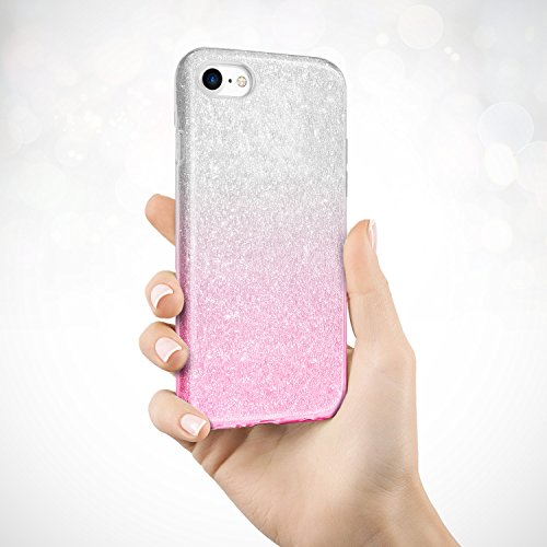 Coque Huawei P9 Lite Paillette Or, TheBlingZ.® Housse Etui Protection Brillante Paillette Case pour Huawei P9 Lite - Or Pink Shading