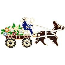Broche de Carro Flor Reno Decoración Regalo Para Navidad Fiesta Colorido