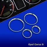 untr10CorbyPRO–Chrome tachoringe Convient pour Opel Corsa B modèles: 93–2000,