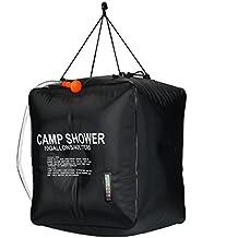 Solar bolsa de ducha, risepro® 10galones/40L calefacción Solar Camping ducha bolsa con temperatura agua caliente 45°C senderismo escalada XH07