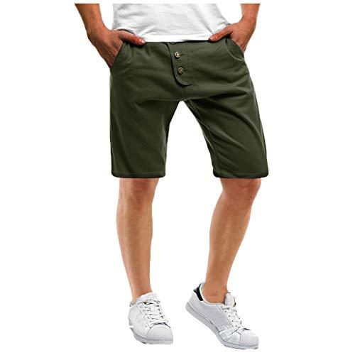 Cargo Shorts Herren Chino Kurze Hose Sommer Bermuda Sport Jogging Training Stretch Shorts Fitness Vintage Regular Qmber,Mehrfarbige Shorts mit Knöpfen/AG,3XL Ag Jeans, Cord Jeans