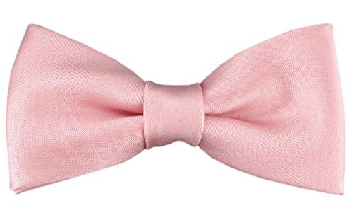 TigerTie Pajarita bebé en en rosa con banda elástica 29 a 40 cm extensa cuello ajustable + caja