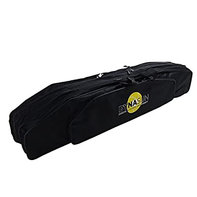 0cm DynaSun FBAG Fishing Rod Holdall Bag Carp Coarse for made up rods & reel Black Carry Case Luggage from DynaSun