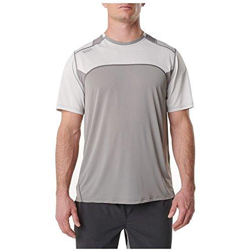 5.11 Tactical Series Max Effort T-Shirt de Sport Homme, Volcanic, FR : L (Taille Fabricant : L)