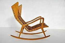 Amour Grand Prix Rocker Chair (Honey)