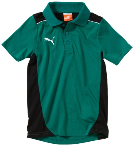 PUMA, Polo Bambino Foundation, Verde (Team Green/Black), 176 cm