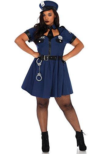 Leg Avenue 86681X Flirty Cop Kostüm, Blau, XX-Larg (EUR 44/46)