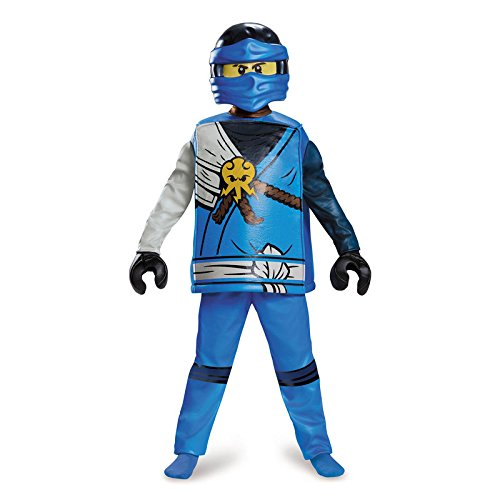 Ninjago Lego Jay Kostüm - LEGO Ninjago Movie 98123L Ninjago Kostüm Jay Deluxe S (4-6 J.), blau, 109-126cm