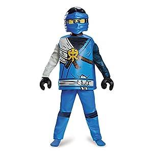 Lego Ninjago 98123K Ninjago - Disfraz de Jay de Ninjago (talla M, 7-8 años), para niños, 127-136 cm, color azul