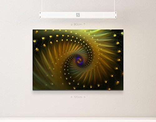 Abstraktes Bild – doppelte Spirale in Goldtönen