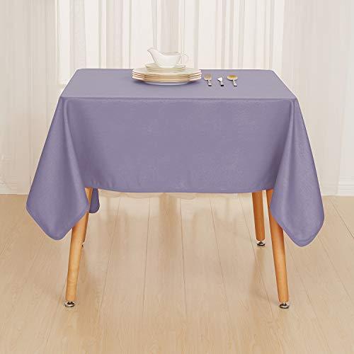 Deconovo Tischdecke Lotuseffekt Wasserabweisend Tischdecke Tischtücher 130x220 cm Lila