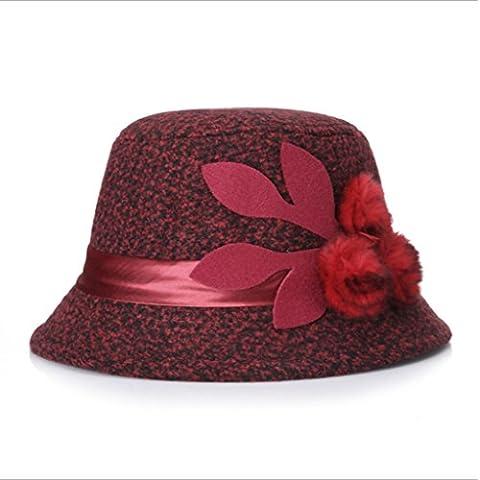 XZWZ L'autunno e l'inverno delle signore cappello cappello di lana