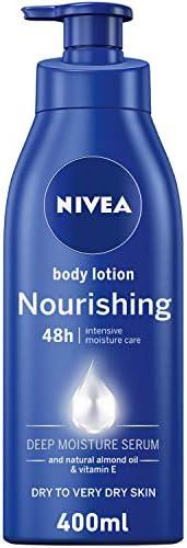 NIVEA Nourishing Body Lotion, Almond Oil & Vitamin E, Extra Dry Skin, 4