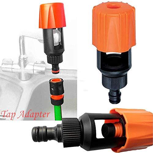 TAOtTAO Universal-Wasserhahn-zum Gartenschlauch-Rohr-Verbindungsmischer-Küchenhahn-Adapter Wasserhahn-Schlauchanschluss Schlauchanschluss (Nippel-Anschluss) + Schnellkupplung (B)