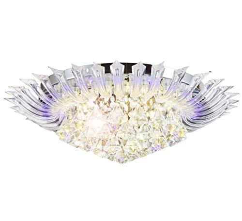 Cambiare colore led cristallo lampadario plafoniera lampadari soffitto luce sospensione 6xg9 incl. led lampadini & telecomando 60cm