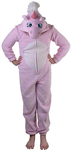 Boutique Damen Overall Neu Damen Alles In Einem Schlafanzug Loungwear Pink Unicorn